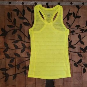 Nike Dri-Fit Bright Neon racer Back top XS EUC